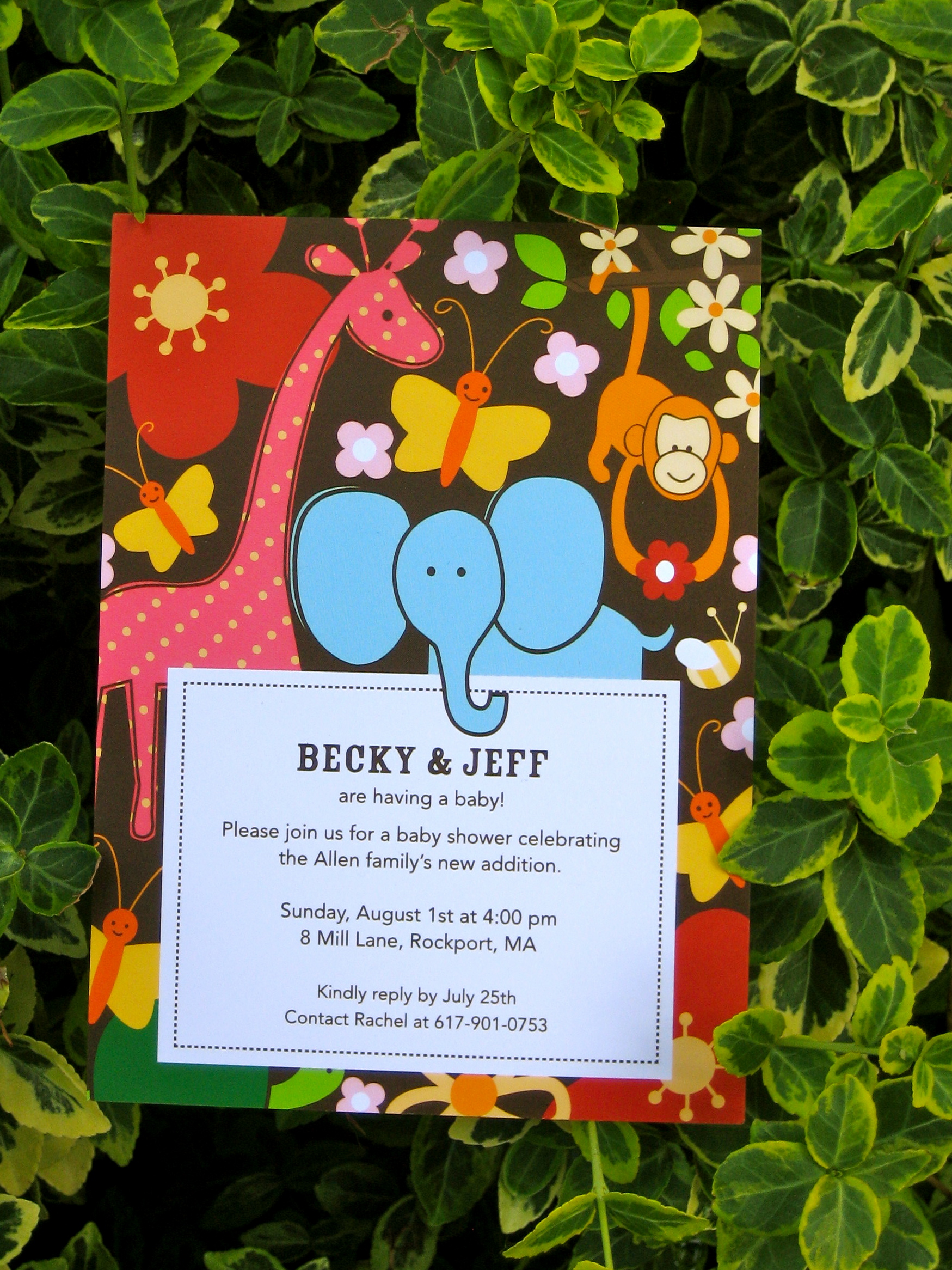 Monkeys Elephants Giraffes = Absolute Adorable Baby Shower