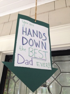 Dad's Day Handprint Sign 2